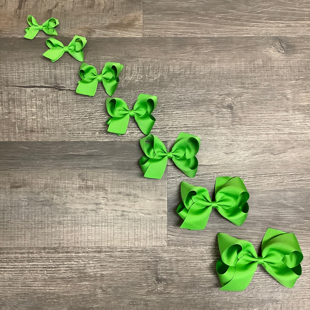 Apple Green Basic Essential Bow