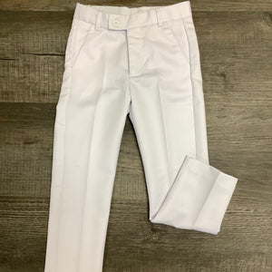 Leo & Zachary Boys White Dress Pants