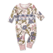 Load image into Gallery viewer, Tesa Babe Baby Girls Floral Tapestry Ruffle Romper