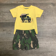 "Load image into Gallery viewer, ""Load and Carry"" Applique' Dump Truck Short Set"