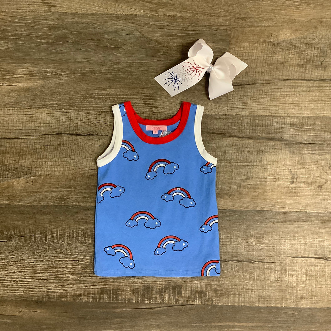 Rainbow Red, White & Blue Cloud Tank