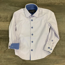 Load image into Gallery viewer, Boys Lavender and Blue Check Shirt