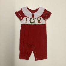 Load image into Gallery viewer, Mom and Me Boys Red Corduroy Christmas Coverall