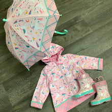 Load image into Gallery viewer, Fancy Unicorns Pink Rain Boots