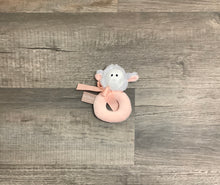 Load image into Gallery viewer, Ultra-Soft Plush Lamb Ring Rattle