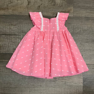 Little Dainty Coral Dress w/ Bloomers