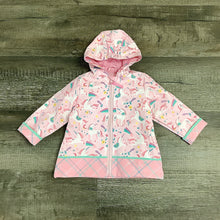 Load image into Gallery viewer, Fancy Unicorn Pink Raincoat