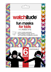 Watchitude Disposable Rainbow Playground & Butterfly Kids Masks