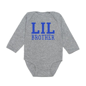 Sweet Wink Lil Brother L/S Grey Bodysuit