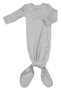 Angel Dear Grey Stripe Hippo Knotted Gown