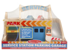Load image into Gallery viewer, Melissa & Doug Service Station Parking Garage