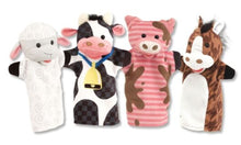 Load image into Gallery viewer, Melissa & Doug Soft & Cuddly Puppets