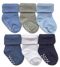Load image into Gallery viewer, Jefferies Non-Skid Cuff Socks, 6-pair pack