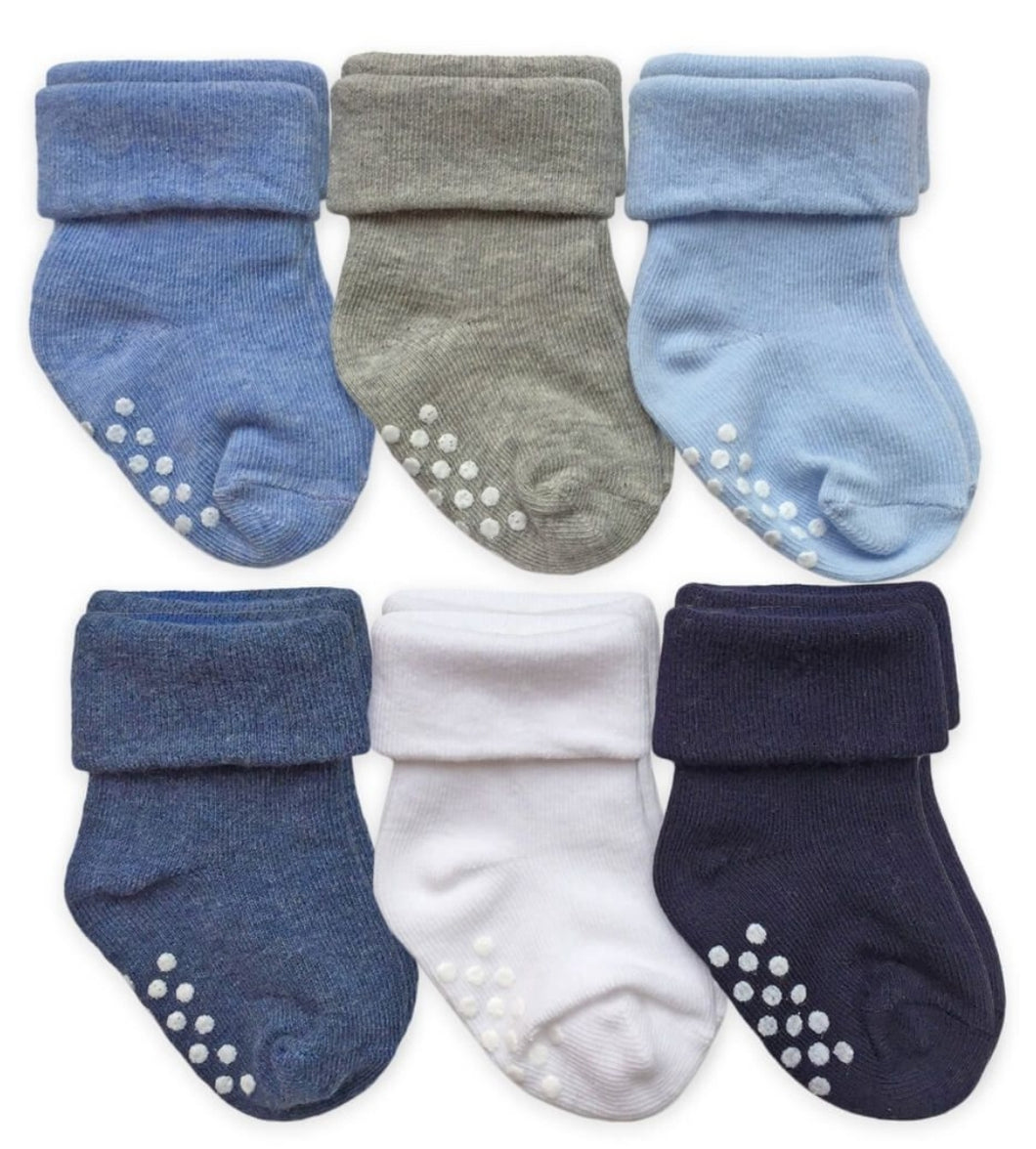 Jefferies Non-Skid Cuff Socks, 6-pair pack