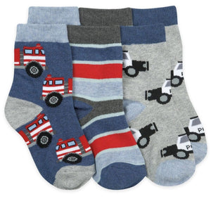 1166 Jefferies Rescue Vehicles Crew Socks, 3-pair pack