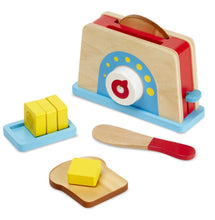Load image into Gallery viewer, Melissa & Doug Bread & Butter Toaster Set