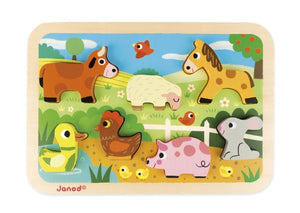 Janod Chunky Farm Friends Puzzle