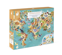 Load image into Gallery viewer, Janod 200-Piece Dinosaurs Educational Puzzle W/ Leaflet & Poster