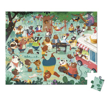 Load image into Gallery viewer, Janod 54-Piece Bear Picnic Puzzle & Poster