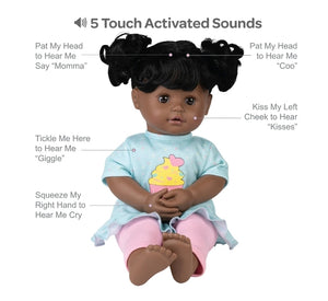 Adora Cuddle & Coo Baby Doll - Black Hair  Cuppy Cake