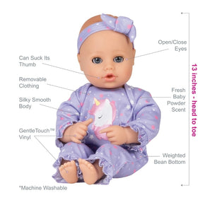 Adora PlayTime Baby Doll W/ Unicorn Glitter Outfit