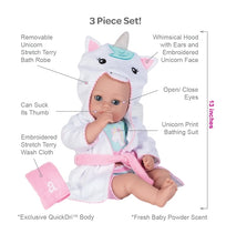 Load image into Gallery viewer, Adora Bath Time Baby Doll W/ UNICORN Robe