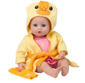 Adora Bath Time Baby Doll W/  DUCKY Robe