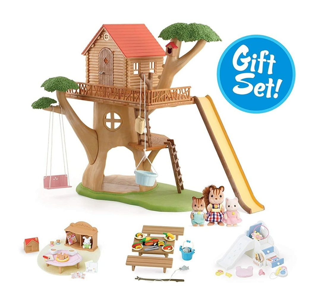 Calico Critters Adventure Tree House Gift Set, large