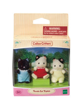 Load image into Gallery viewer, Calico Critters Tuxedo Cat Triplets