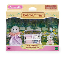 Load image into Gallery viewer, Calico Critters Patty & Paden's Double Stroller Set