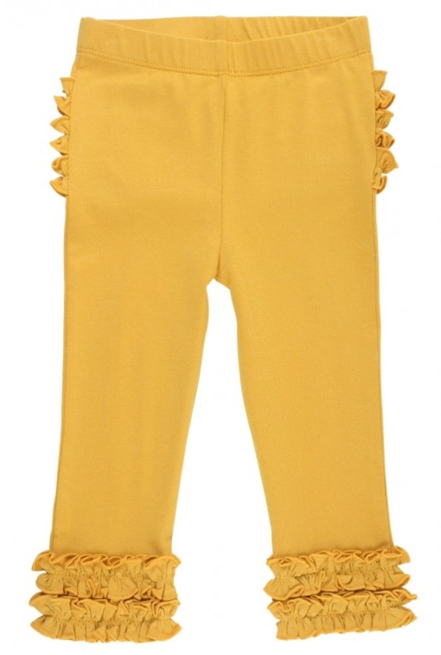 Ruffle Butts Golden Yellow Ruffle Leggings