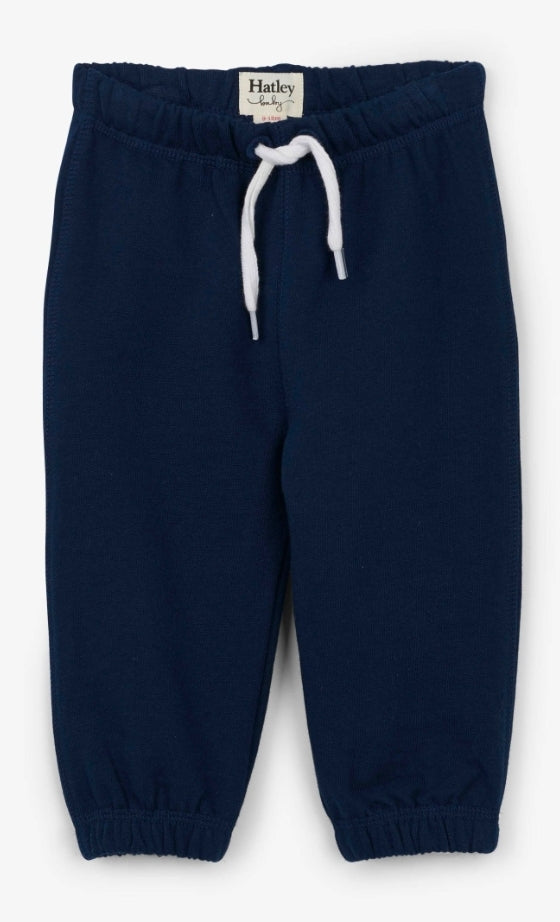 Hatley Boys Navy French Terry Baby Joggers