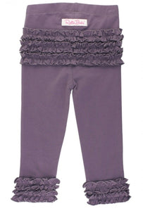 Ruffle Butts Shadow Purple Ruffle Leggings