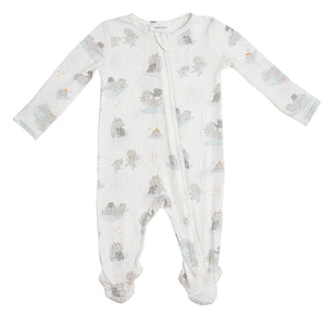 "Angel Dear ""Hippo Grey"" Front Zipper Footie"