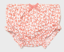 Load image into Gallery viewer, Mayoral NB Girls PEACH EYELET Print Ruffle Dress w/ Diaper Cover