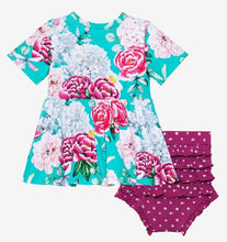 Load image into Gallery viewer, Posh Peanut ELOISE S/S Peplum Top & Bloomer Set