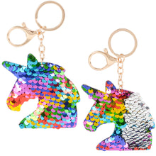 "Load image into Gallery viewer, The Toy Network 3""-4"" flip Sequins Keychains"