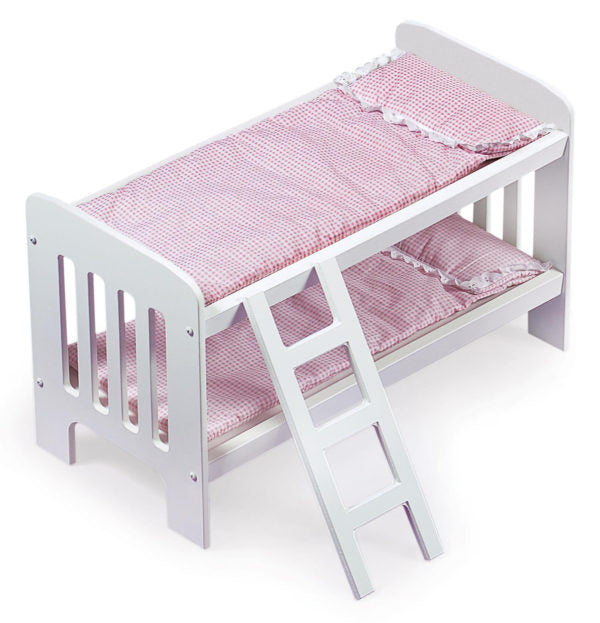 Badger Basket Doll Bunk Bed w/ Bedding & Ladder