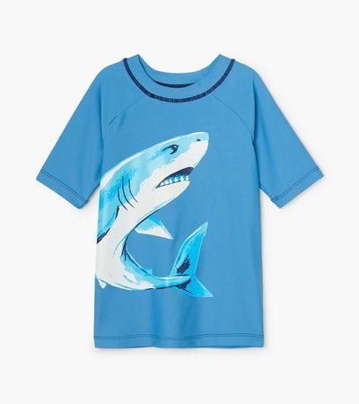 Hatley DEEP-SEA SHARKS Parisian Blue S/S Rashguard