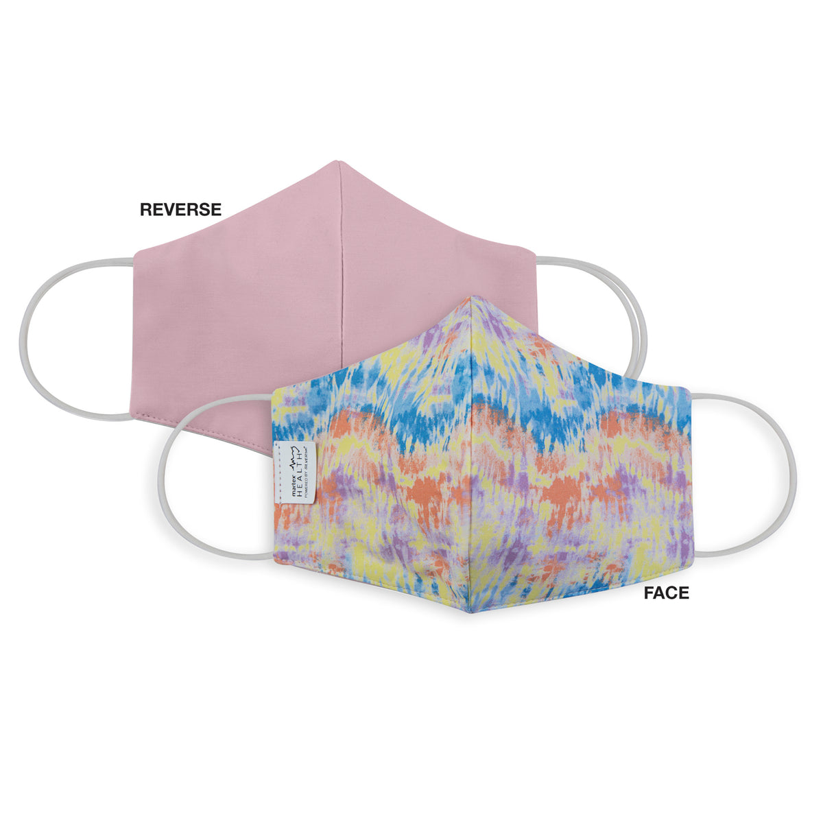 Martex Health Tie Dye Triple Layer Face Masks with SILVERbac™ Antimicrobial Technology 3-Pack