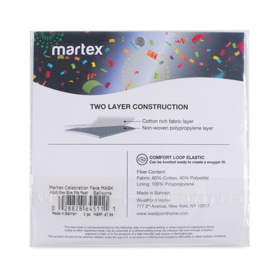 Martex Health Bunny Face Double Layer Gathered Youth Face Mask