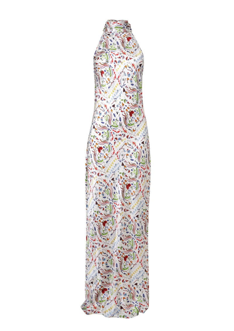 Jessica Russell Flint High Neck Maxi Dress / ''Indiana''