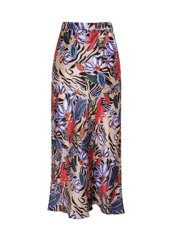 "Jessica Russell Flint Bias Cut Skirt / ""Painted Zebra"""