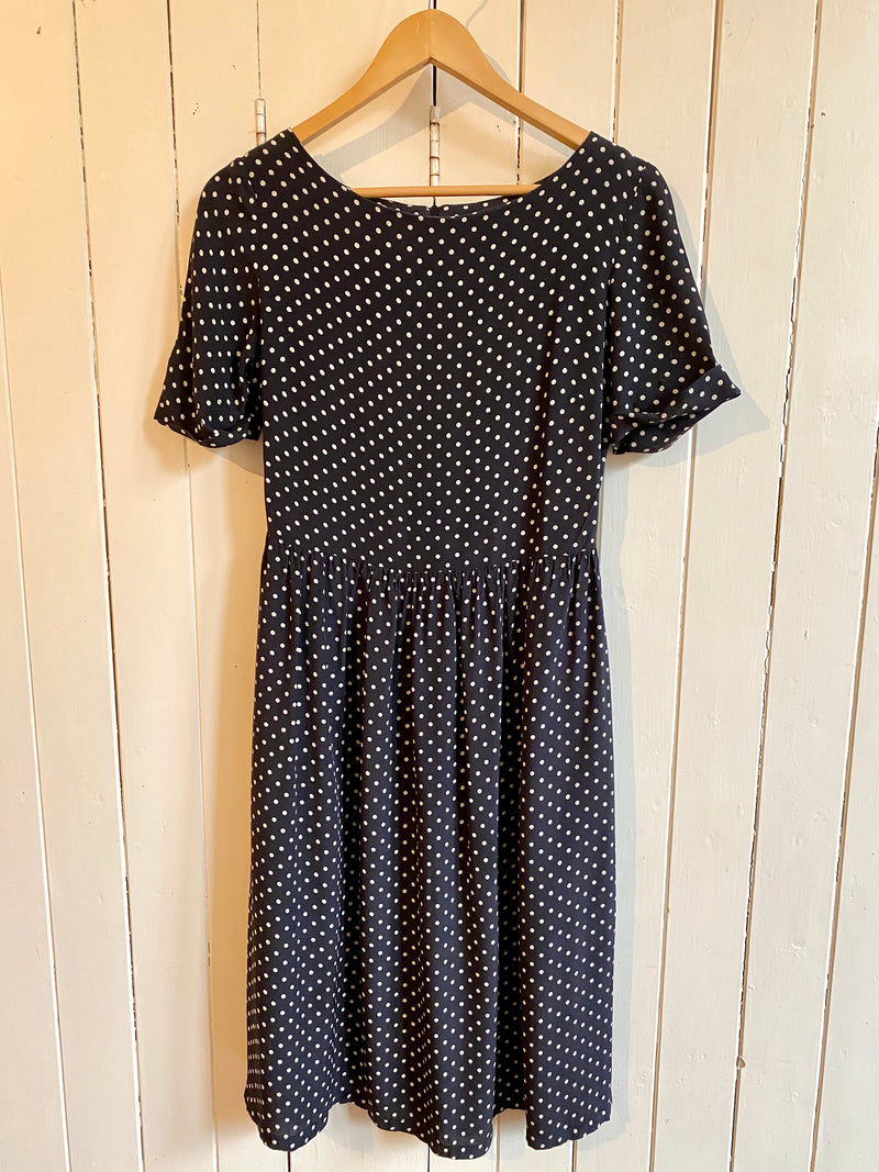 Spotty Silk Dress