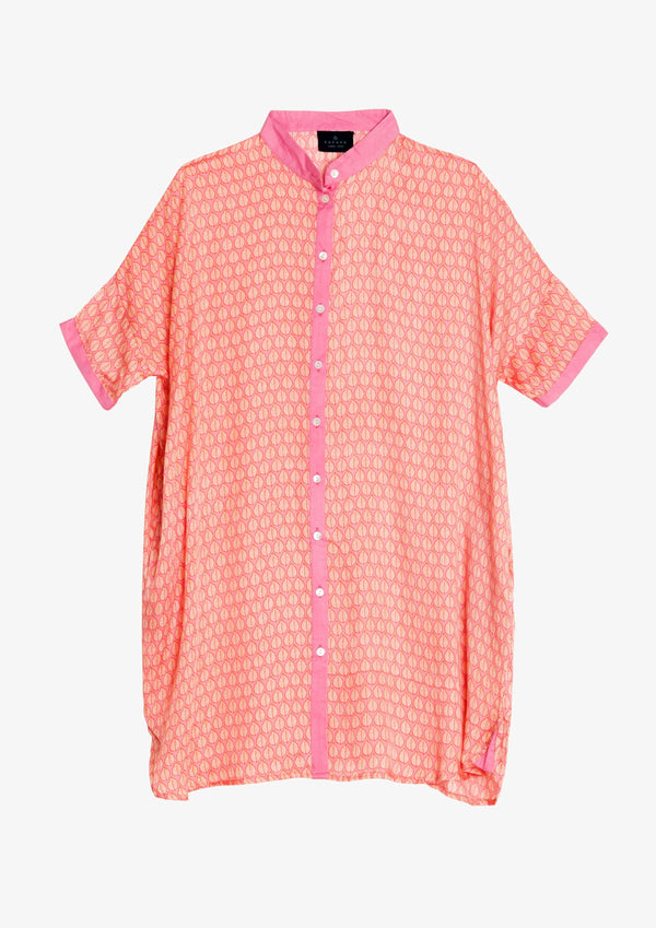 Kapara Pink Hand of Fatima Beach shirt