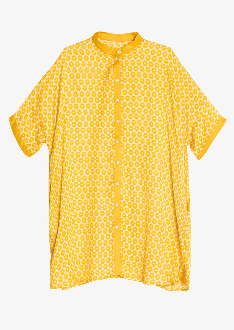 Kapara Yellow Hand of Fatima Beach shirt