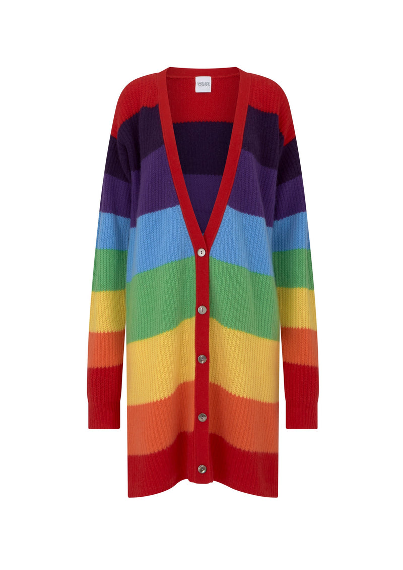 Madeleine Thompson Brina Rainbow Cardigan