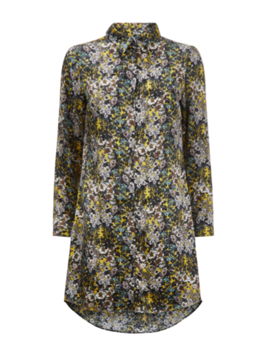 Phoebe Grace Nightshirt in Yellow Flower