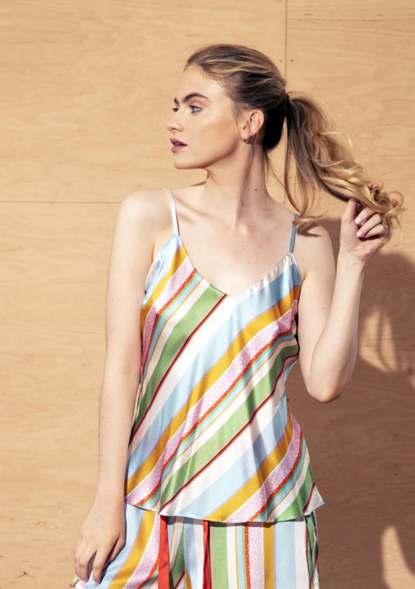 Jessica Russell Flint Cami Top / ''Kansas Summer Stripe''