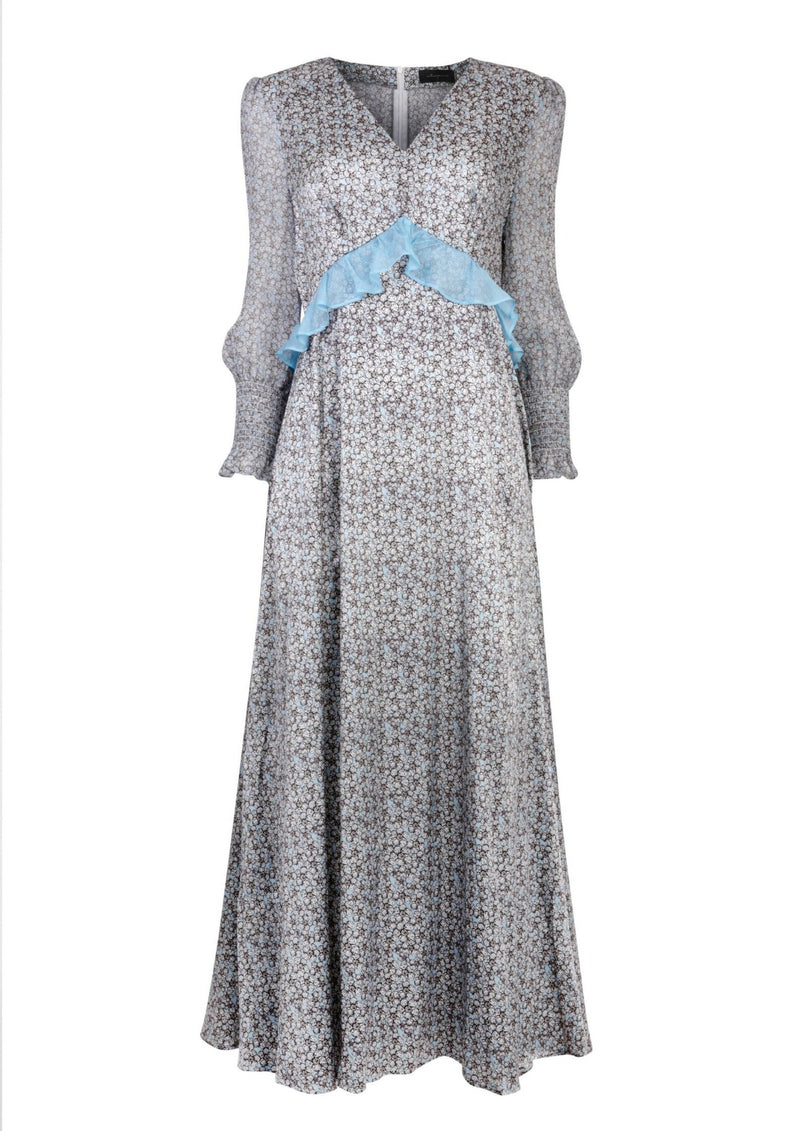 Jessica Russell Flint Smock Dress / ''Cornflower Wilds''